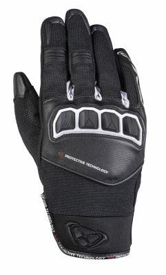 Gant cuir/textile Ixon RS Run noir/blanc