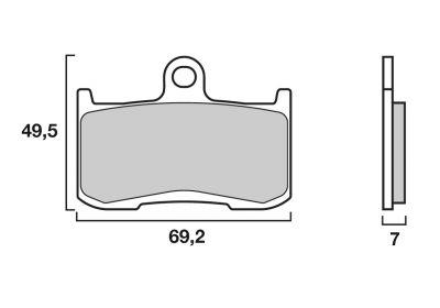 Plaquettes de frein Brembo métal fritté 07KA23SA