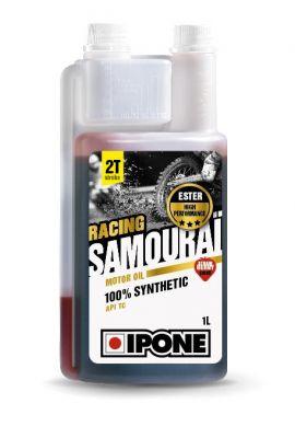Huile moteur 2T Ipone Samouraï Racing Fraise 1l