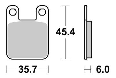 Plaquettes de frein SBS céramique 105HF