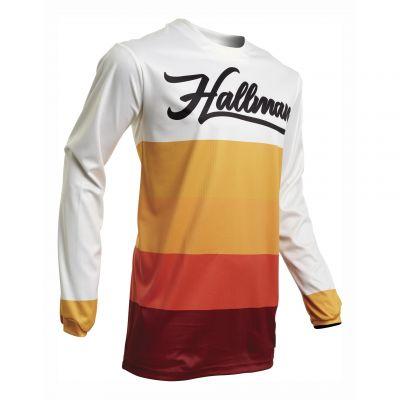 Maillot cross Thor Halllman Horizon blanc/orange