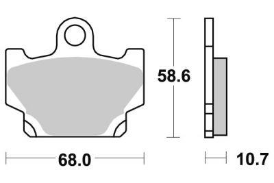 plaquettes de frein yamaha xt 600 sur la b canerie. Black Bedroom Furniture Sets. Home Design Ideas
