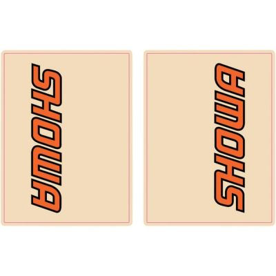 Autocollants de fourche Blackbird Showa orange/noir