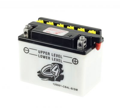 Batterie C4 CB4L-B/SM 12V 4Ah avec pack acide