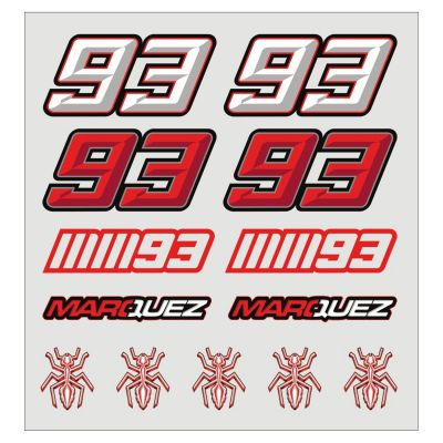 Planche stickers Marc Marquez blanc/rouge (Moyenne)
