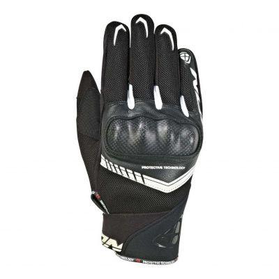 Gants été textile/cuir Ixon RS Loop 2 noir/blanc