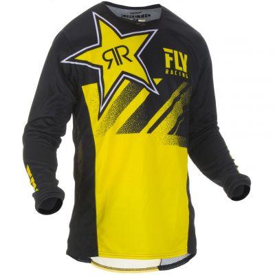 Maillot cross Fly Racing Kinetic Rockstar jaune/noir