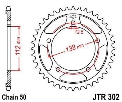 Couronne JT Sprockets Acier pas 530 42 dents - Pour Honda CBR 900 RR 92-95