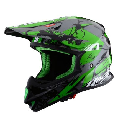 Casque cross Astone MX600 graphic GIANT noir/vert