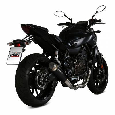 Ligne d'échappement complète Mivv inox silencieux GP Pro noire Yamaha MT-07 14-19