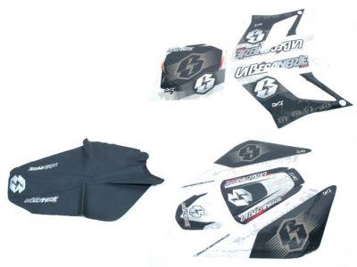 kit d co altec racing vintage derbi drd avec housse de selle pi ces car nage sur la b canerie. Black Bedroom Furniture Sets. Home Design Ideas