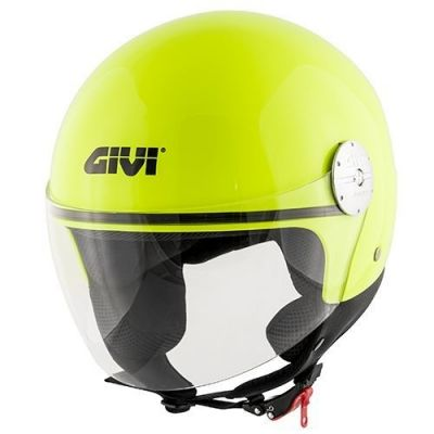 Casque jet Givi 10.7 Mini-J Solid Color jaune fluo