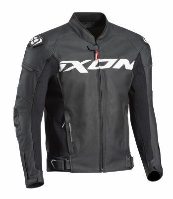 Blouson cuir Ixon Sparrow noir/blanc