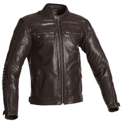 Veste moto homme en cuir