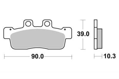 plaquettes de frein polini original cygnus x pi ces freinage sur la b canerie. Black Bedroom Furniture Sets. Home Design Ideas