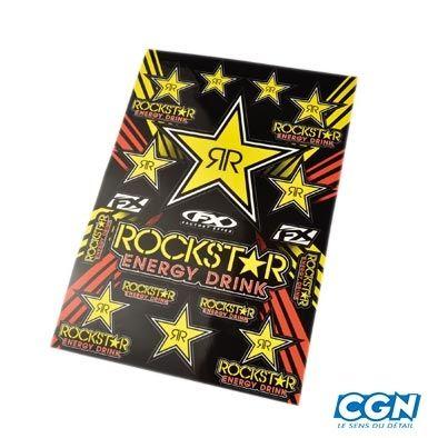 Kit déco autocollants Rockstar 49 X 33 Cm