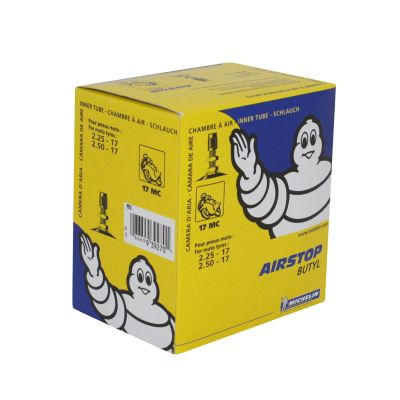 Chambre à air Michelin Street 2,25-17 / 2,50-17 valve droite TR4