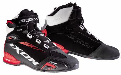Chaussures moto Ixon Bull WP noir/blanc/rouge