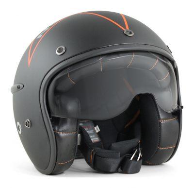 Casque jet Harisson Corsair noir/orange mat