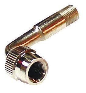 Extension de valve à 90° chromée