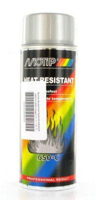 Bombe peinture argent haute-température 650°C Motip 400ml
