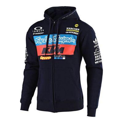 Sweat zippé à capuche femme Troy Lee Designs KTM Team 2019 navy