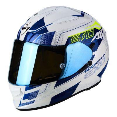 Casque intégral Scorpion EXO-510 AIR Galva blanc/bleu