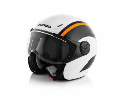 Casque jet Acerbis K-Jet on bike blanc/orange
