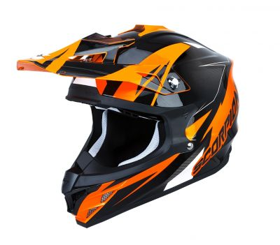 Casque cross Scorpion VX 15 EVO AIR Krush orange