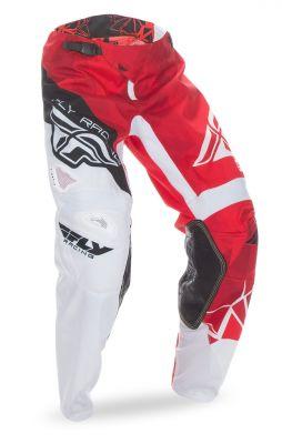 Pantalon cross Fly Racing Kinetic rouge/blanc
