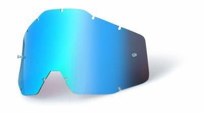 Ecran masque cross 100% bleu miroir