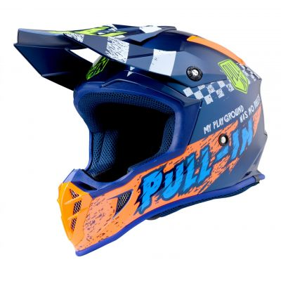 Casque cross Pull-in Trash navy/orange