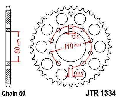 Couronne JT Sprockets Acier pas 530 43 dents - Pour Honda CBR 1000 F 87-88