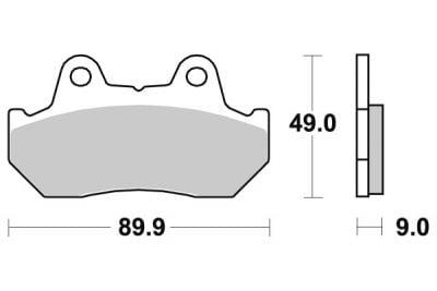 plaquettes de frein sbs c ramique 517hf pi ces freinage sur la b canerie. Black Bedroom Furniture Sets. Home Design Ideas