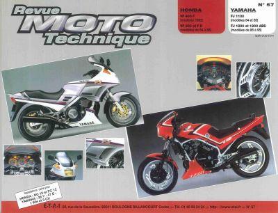 revue moto technique yamaha fj1200 sur la b canerie. Black Bedroom Furniture Sets. Home Design Ideas