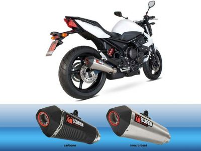 Silencieux homologué Scorpion Serket Inox Brossé Pour Yamaha XJ6 09-12