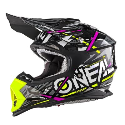 Casque cross enfant O'Neal 2 Series Synthy rose/jaune
