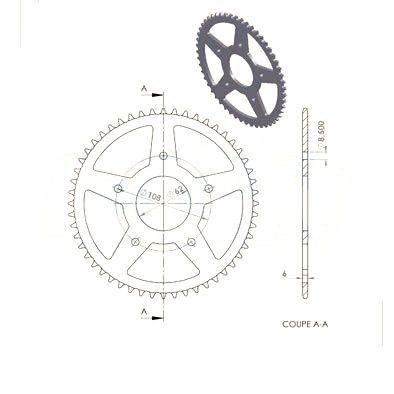 Couronne  pas 420 48 dents Rieju Spike / SMX / MRT 11-