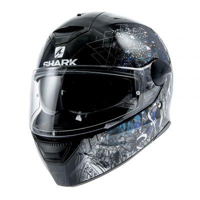 Casque intégral Shark D-SKWAL ANYAH noir/blanc/bleu