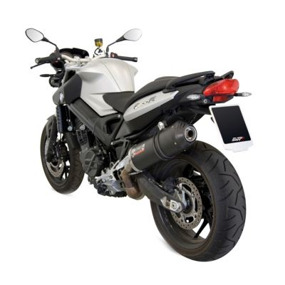 Silencieux MIVV Oval carbone / casquette carbone BMW F800R 09-