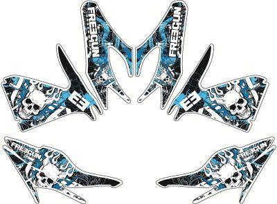 Kit déco Kutvek Freegun Firehead bleu MBK Nitro