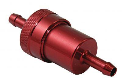 Filtre à essence BikeTek metal Ø6 mm rouge