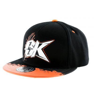 Casquette La Bécanerie logo BK orange / noir