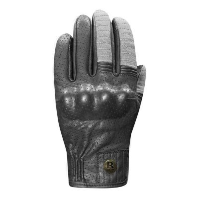 Gants cuir/textile Racer Osaka noir/gris