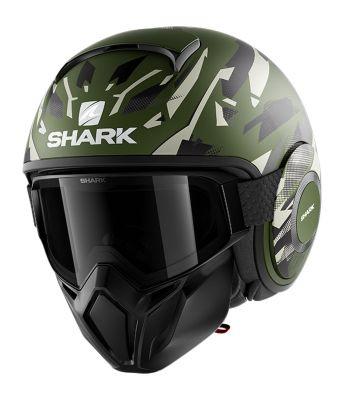 Casque jet Shark Street-Drak Kanhji Mat vert/vert/vert