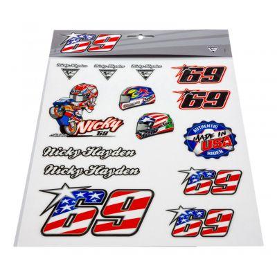 Planche stickers Nicky Hayden (Grande)