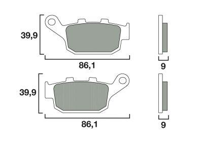 Plaquettes de frein Brembo type 07HO53SP métal fritté