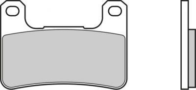 Plaquettes de frein Brembo 07SU27LA métal fritté route
