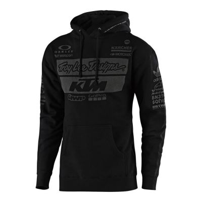 Sweat à capuche Troy Lee Designs KTM Team 2019 noir
