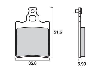Plaquettes de frein Brembo 07BB1305 organique